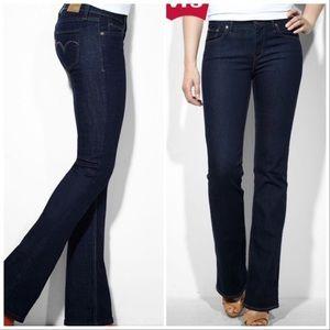 Levi's Demi Curve Dark Wash Bootcut Skinny Jeans